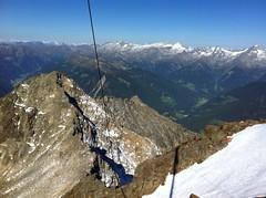 Ausblick Große Windschar 3.041 m auf die Kleine Windschar