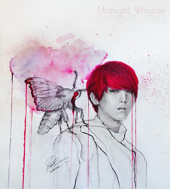 midnight whisper - hyunseung fanart