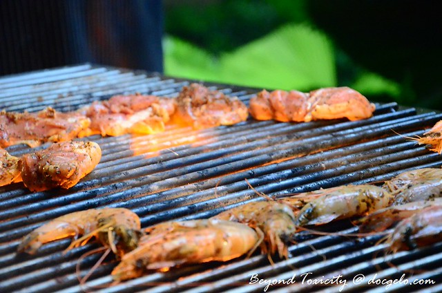 grilled prawns and meat g cafe g hotel penang