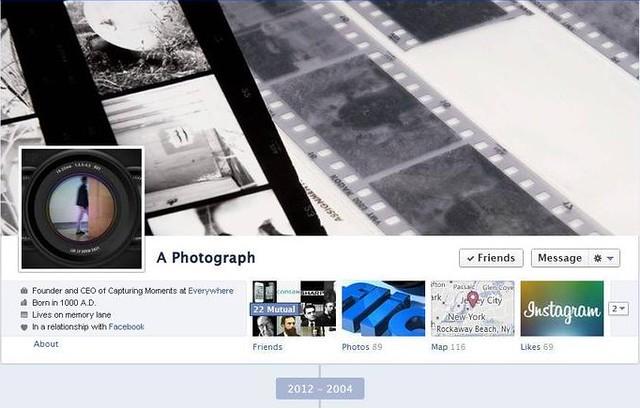 historia de la fotografía en facebook