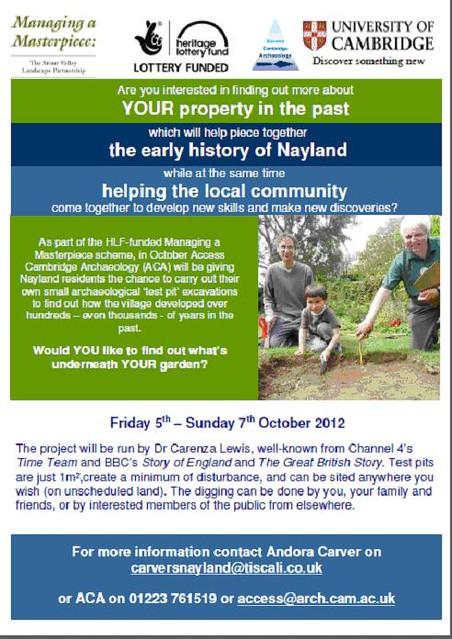 Nayland Test Pit Digging