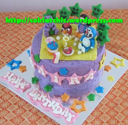 Cake Doraemon, dora dan angry bird