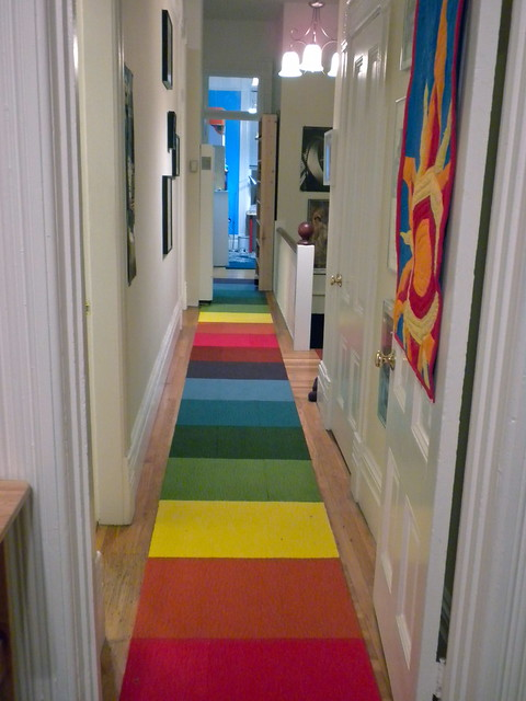 Rainbow Hallway Runner Will Make Your Day Offbeat Home
