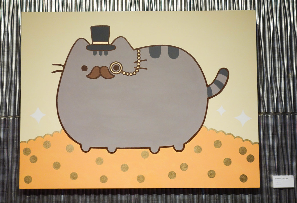 Pusheen the Cat at the Cashcats.biz Art Partie