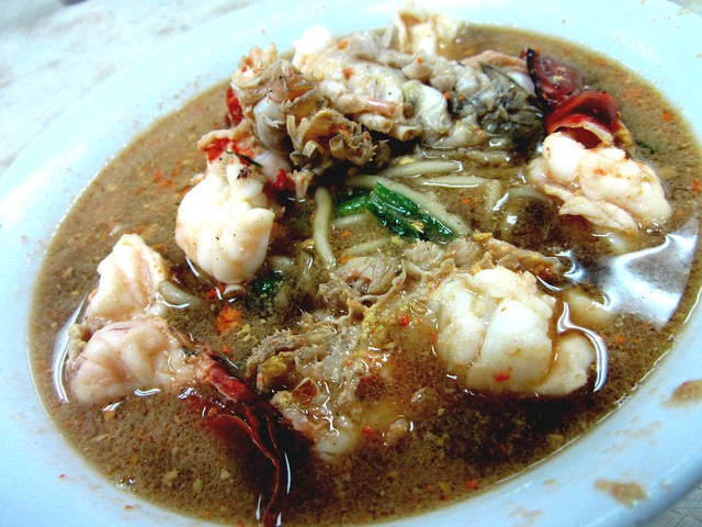 Prawn noodles - soup