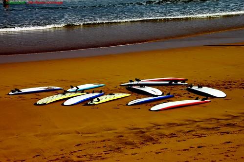 La soledad de las Tablas de Surf #Zarautz #Photography 2