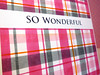 Wonderful Plaid - Close Up