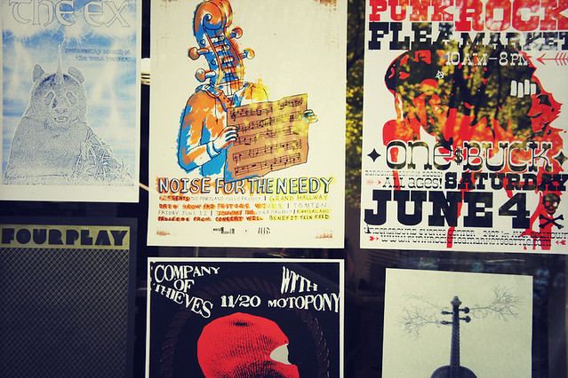 Creative screen printed posters