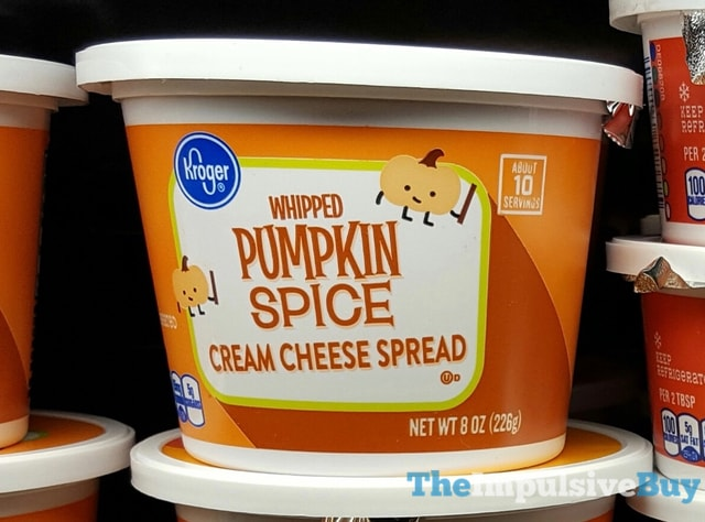 Kroger Whipped Pumpkin Spice Cream Cheese Spread