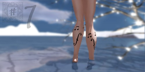 [ # 7 ] Touch Me, Play Me, but don't violate. {legs tattoo} GIFT by shortcake sugarplum - ショートケーキ
