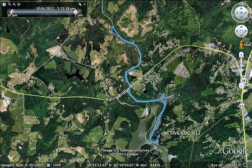 Saluda Lake Paddle Route