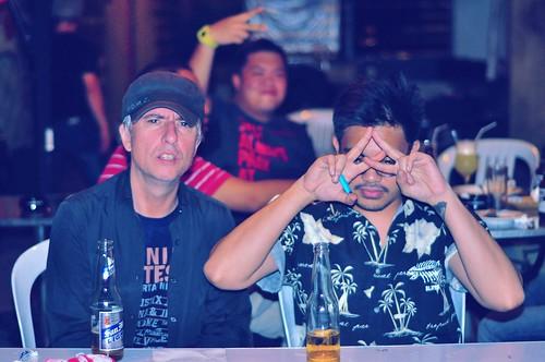 Jesse Grinter + Julius Valledor at Saguijo Cafe
