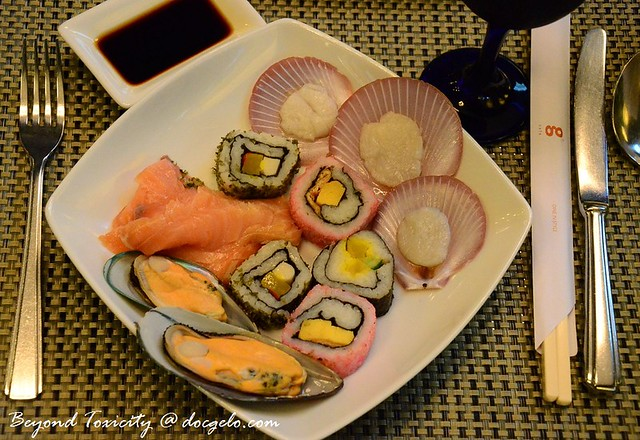 sushi and seafoods