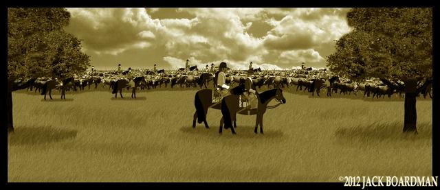 Cattle drive outside of Wichita ©2012 Jack Boardman