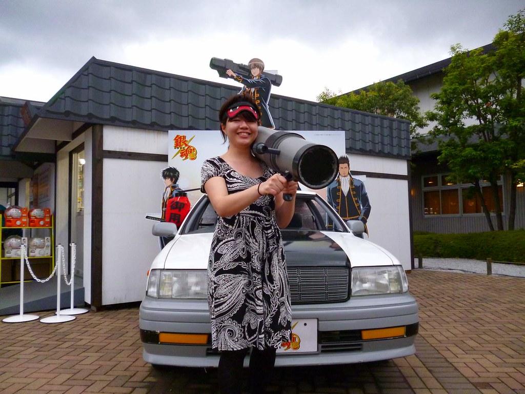 Shinsengumi car at Gintama Land