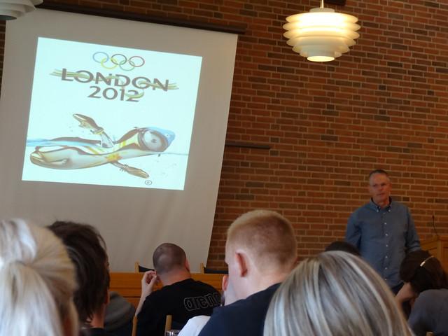 Wildeboer speaking at the Aqua Clinic 2012