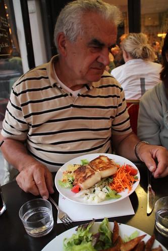 Papa et salade