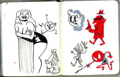 Sketchbook: Gaby Amarantos e outros
