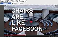 """Chairs Are Like Facebook"" #fail Wieden & Kennedy Ad for FB to honor users"