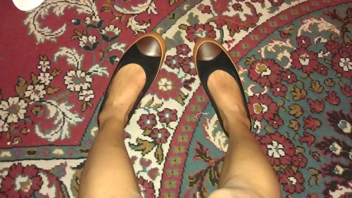 Fitflop Dué two tone black and brown leather