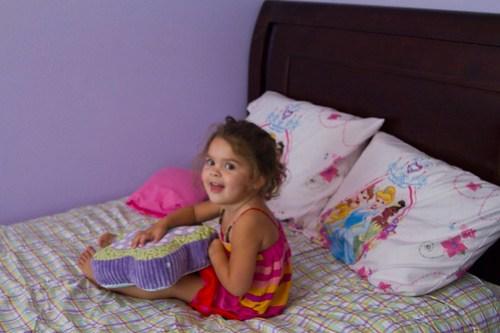 loving her big girl bed