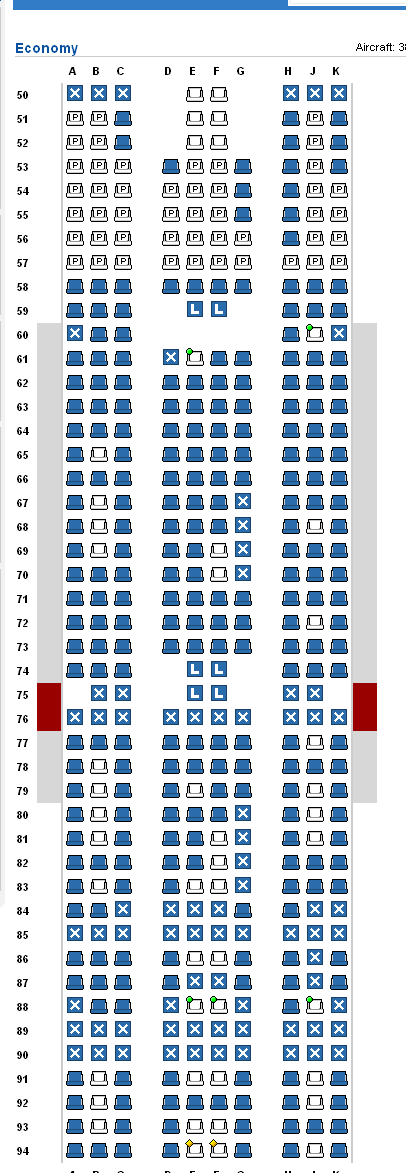 P S Here The Seat Map According To Expertflyer