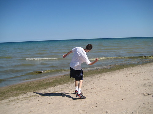 Craig skipping rocks
