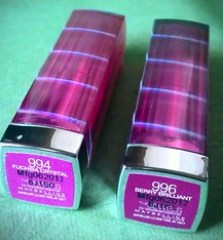 Maybelline The Jewels by Colorsensational lipstick Fuscia Crystal and Berry Brilliant