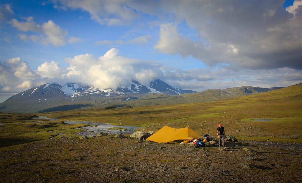 Bivaouc in the Sarek NP, Laponia, Sweden