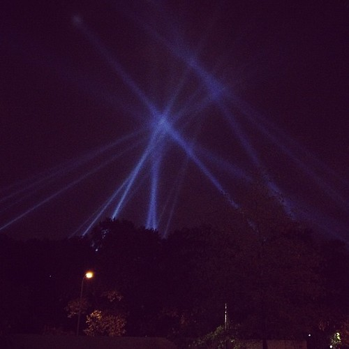 Open Air Was much more impressive tonight over The Barnes Museum!