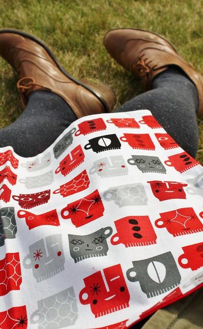 Me-made picnic napkins