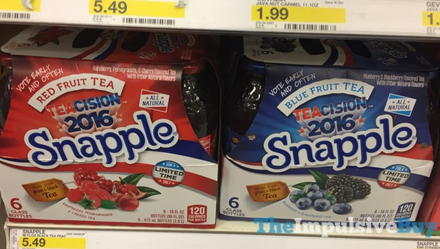 Teacision 2016 Snapple (Red Fruit Tea and Blue Fruit Tea)