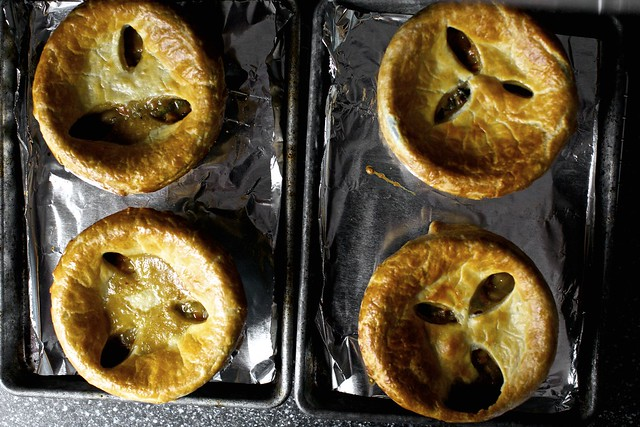 four pot pies that want to be your dinner