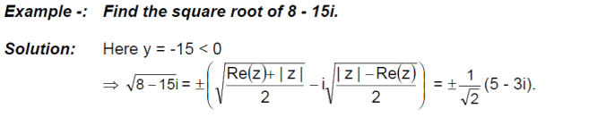lgebraic Operation with Complex Numbers Examples
