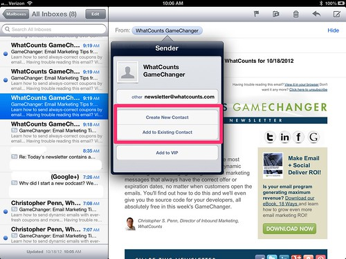 The Apple set up screen whitelist