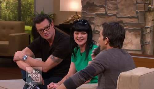 Thomas Arklie, Pauley Perrette and Jeff Probst