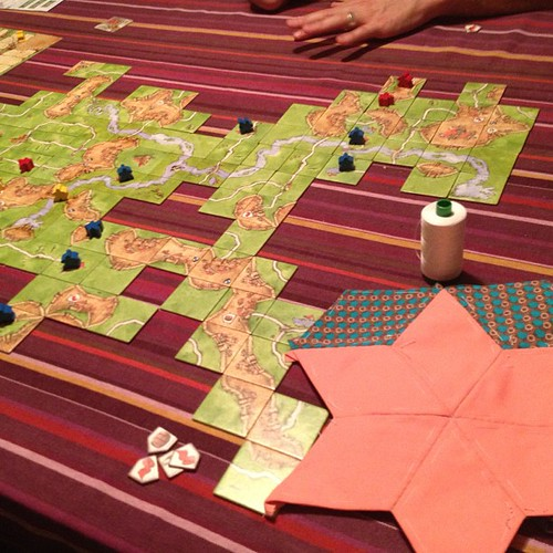 More EPP and carcassone! I'll have my bee blocks done in no time.