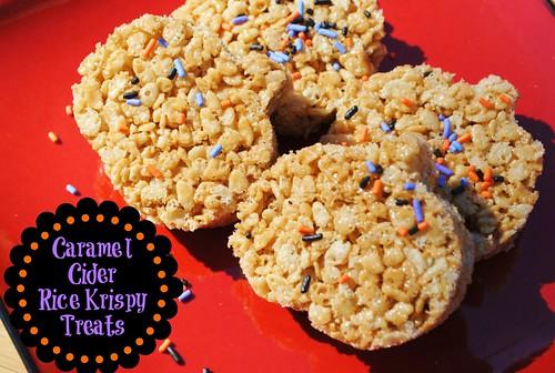 Caramel Cider Rice Krispy Treat | Licious Food
