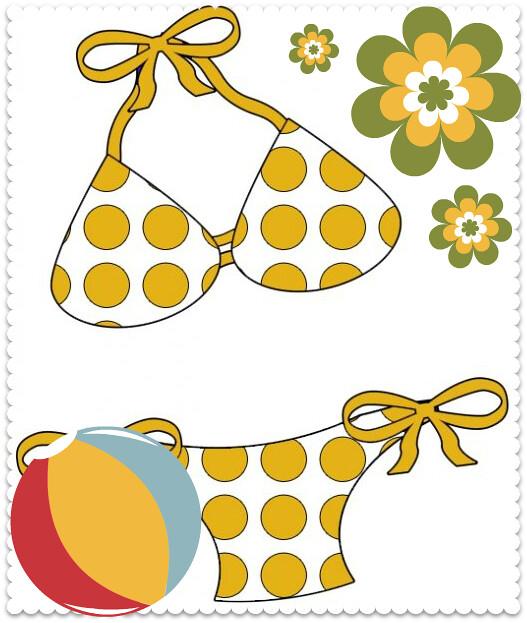 Yellow-Polka-Dot-Bikini-Clipart