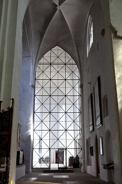 Lubeck, Germany, church, windows