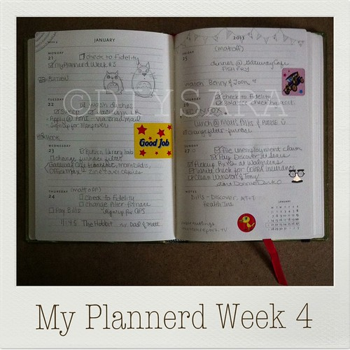 My Plannerd Week Four