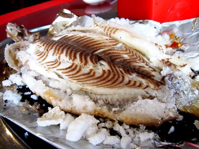 Salt-baked fish 3