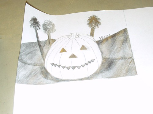Drawing The Smiling Jack o Lantern: Part 2