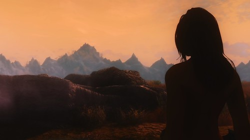 Sunset outside Whiterun by ...amoebae