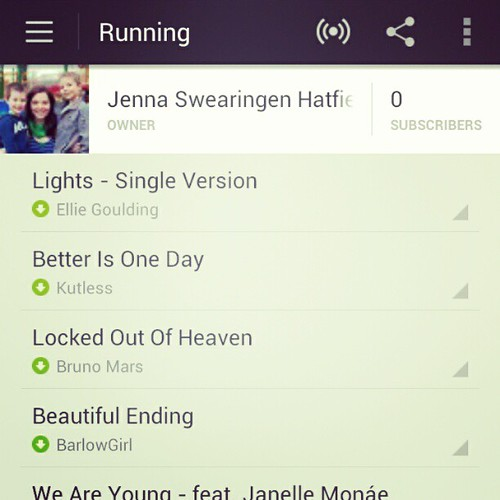 My running playlist is awesome thanks to Spotify and the Beats on my #HTCOne X+!
