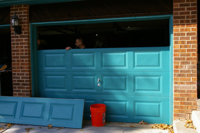 Installing Garage Doors - Sunday Morning