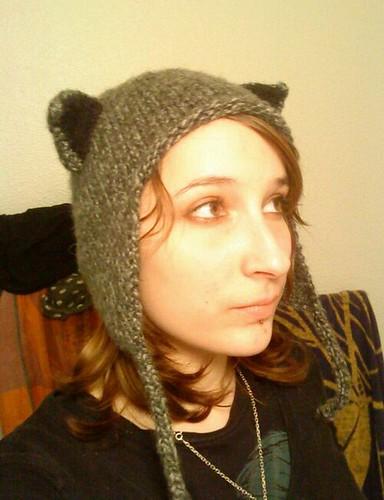 bonnet chat tricot