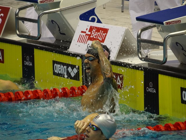 Anthony Ervin after winning the Berlin 2012 men's 100 free