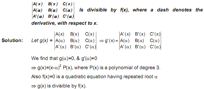 Differentiation of a Determinant