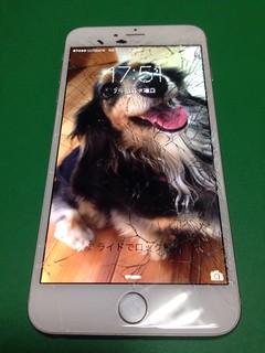 130_iPhone6Plusのフロントパネルガラス割れ
